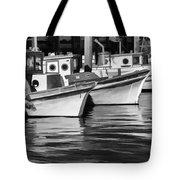 Bows Out Black And White Tote Bag