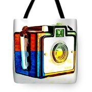 Box Camera Pop Art 3 Tote Bag