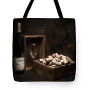 Box Of Wine Corks Still Life Tote Bag