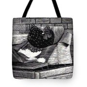 Boxed Chicken Tote Bag