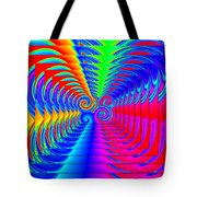 Boxed Rainbow Swirls 2 Tote Bag