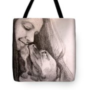 Boxer Kisses Tote Bag
