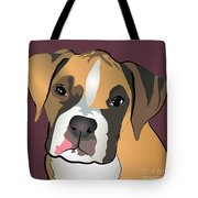 Boxer Puppy Pet Portrait  Tote Bag