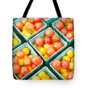 Boxes Of Cherry Tomatoes On Display Tote Bag
