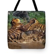Boxing Bengal Tigers Wildlife Rescue Tote Bag