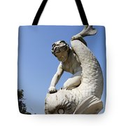 Boy And Dolphin Sculpture By Alexander Munro In Hyde Park London England Tote Bag