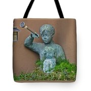 Boy And His Dog Tote Bag