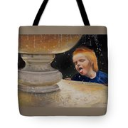 Boy At Fountain Of Youth Tote Bag