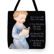 Boy Childs Bedtime Prayer Tote Bag