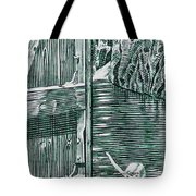 Boy In Canoo In Canal Tote Bag