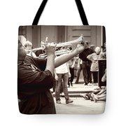 Boy On A Trumpet In Nola Tote Bag