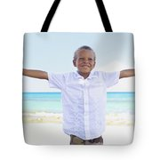 Boy On Beach Tote Bag