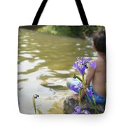 Boy On The Water Tote Bag