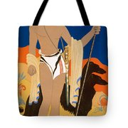 Boy Warrior With Two Borzoi Hounds Tote Bag