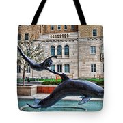 Boy With A Dolphin Tote Bag