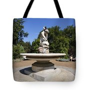 Boy With Dolphin Statue In Hyde Park London England Tote Bag by Robert Preston