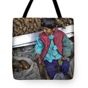 Boy With Grapes - Cusco Market Tote Bag