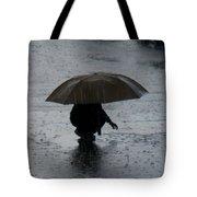 Boy With Umbrella Tote Bag