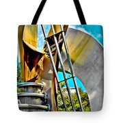 Boyd Plaza Fountain Revisited Tote Bag