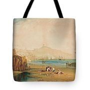 Boys Catching Crabs Tote Bag