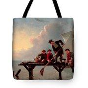 Boys Crabbing Tote Bag