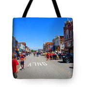 Boys Enjoying The Car Show Tote Bag