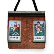 Bracing By The Sea Tote Bag