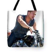 Actor - Brad Pitt On His Harley Tote Bag