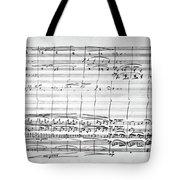 Brahms Manuscript, 1880 Tote Bag