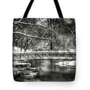 Brainards Bridge After A Snow Storm 3 Tote Bag