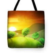 Brainy Hills Tote Bag