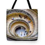 Bramante Spiral Staircase In Vatican City Tote Bag
