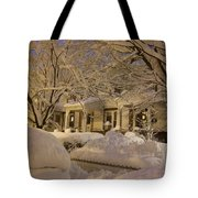 Branches And Snow Mounds Tote Bag