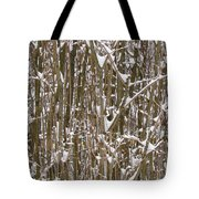 Branches And Twigs Covered In Fresh Snow Tote Bag
