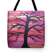 Branching Out Silhouette  Tote Bag