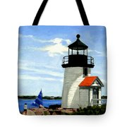 Brant Point Lighthouse Nantucket Massachusetts Tote Bag