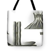 Brasilia Landmarks Tote Bag