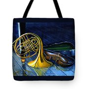 Brass And Strings Tote Bag