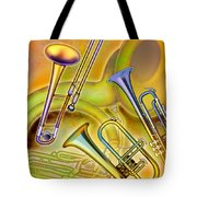 Brass Instruments Tote Bag