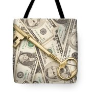 Brass Key To Success Money Tote Bag
