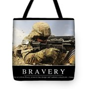 Bravery Inspirational Quote Tote Bag by Stocktrek Images