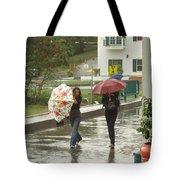 Braving The Rain Tote Bag