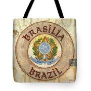 Brazil Coat Of Arms Tote Bag by Debbie DeWitt