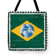 Brazil Flag Like Stamp In Grunge Style Tote Bag