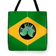 Brazilian Football Field Tote Bag