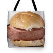 Bread Roll With Thick Slice Leberkaese - German Food Tote Bag