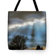 Break In The Storm Tote Bag