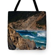 Breakers At Pt Reyes Tote Bag by Bill Gallagher