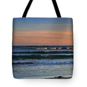Breakers At Sunset Tote Bag by Louise Heusinkveld