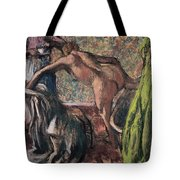 Breakfast After The Bath.the Bath Tote Bag